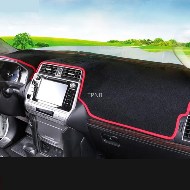 Voiture tableau de bord tapis couverture pour Toyota Land Cruiser Prado 150 2010 2011 2012 2013 2014 2015 2016 2017 accessoires