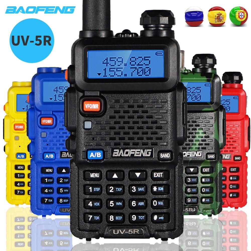 2PCS Baofeng UV-5R Walkie Talkie 5W Dual Band Two Way Radio UV 5R Amateur Portable CB Ham Radio VHF/UHF Transceiver Intercom 5r