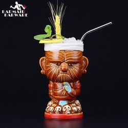 520ml Ceramic Tiki Mug Creative Porcelain Beer Wine Mug Cup
