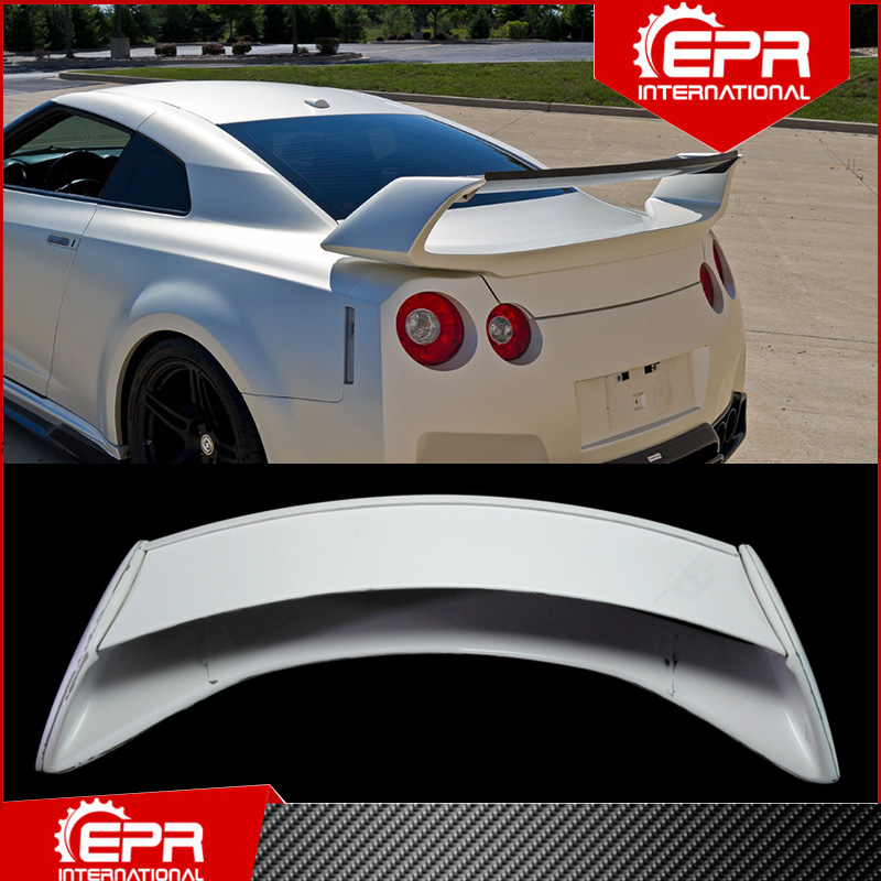 For <font><b>R35</b></font> <font><b>GTR</b></font> Aumse Style <font><b>Rear</b></font> <font><b>Spoiler</b></font> Trim <font><b>R35</b></font> Fiberglass AM Trunk Wing Boot Lid Racing Body Kit For <font><b>R35</b></font> GT-R image
