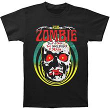Rob Zombie Mens Death Tour T-shirt Large BlackHipster O-Neck Casual
