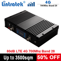 Lintratek 4G 700Mhz Repeater 80dB Booster 1W Signal Repeater LTE Band 28 Amplifier AGC MGC High Gain 30dBm Signal Booster 7Mhz