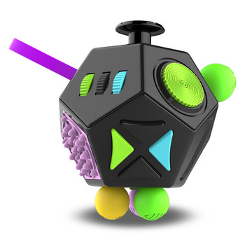EDC Hand For Autism ADHD Anxiety Relief Focus Kids 12 Sides Anti-Stress Magic Stress Fidget Toys