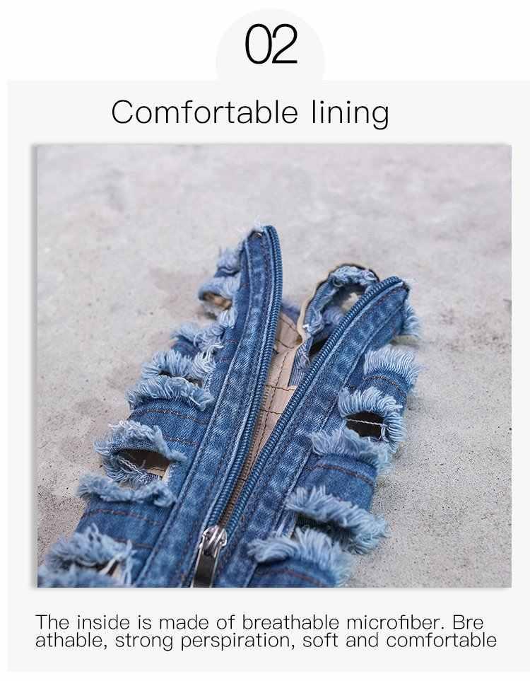 Ботинки женская обувь модные женские ботинки на высоком каблуке со шнуровкой женские ботинки на молнии, на платформе, из искусственной ткани Bota Femini 35-40