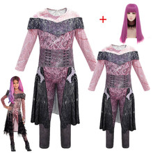 Kızlar/kadınlar kraliçe ortalama torunları 3 Mal Bertha Maleficent Cosplay Audrey kostüm kızlar cadılar bayramı partisi giyim 3D tulumlar