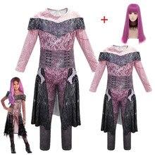 Mädchen/frauen königin von bedeuten nachkommen 3 Mal Bertha Maleficent Cosplay Audrey Kostüm Mädchen Halloween Party Kleidung 3D Overalls