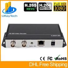 HD 3G SDI Decoder IP Streaming Zu HD SDI 3G SDI Video Audio Decoder H.265 H.264 HTTP RTSP RTMP UDP HLS zu SDI Konverter
