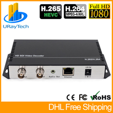 HD 3G SDI декодер IP потоковый к HD SDI 3G SDI видео аудио декодер H.265 H.264 HTTP RTSP RTMP UDP HLS к SDI преобразователь