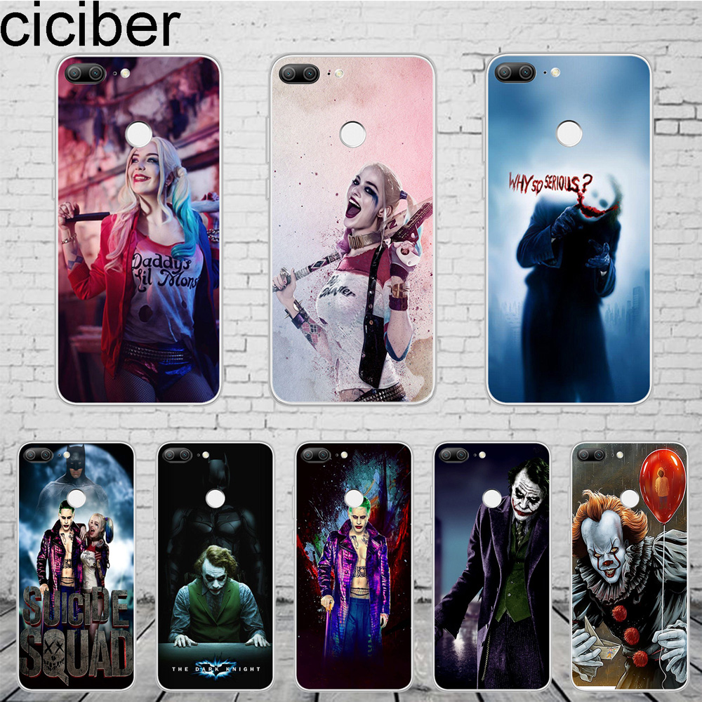 ciciber DC Marvel Suicide Squad Joker For Honor 10 9 8 Pro Lite X C Play Phone <font><b>Case</b></font> For <font><b>Y</b></font> 9 <font><b>7</b></font> 6 5 Prime Pro 2017 <font><b>2018</b></font> 2019 Coque image