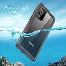 غلاف هاتف خلوي مقاوم للماء IP68 ، جراب لهاتف Samsung Galaxy S21 Note 20 Ultra S21 Plus Note 20 10