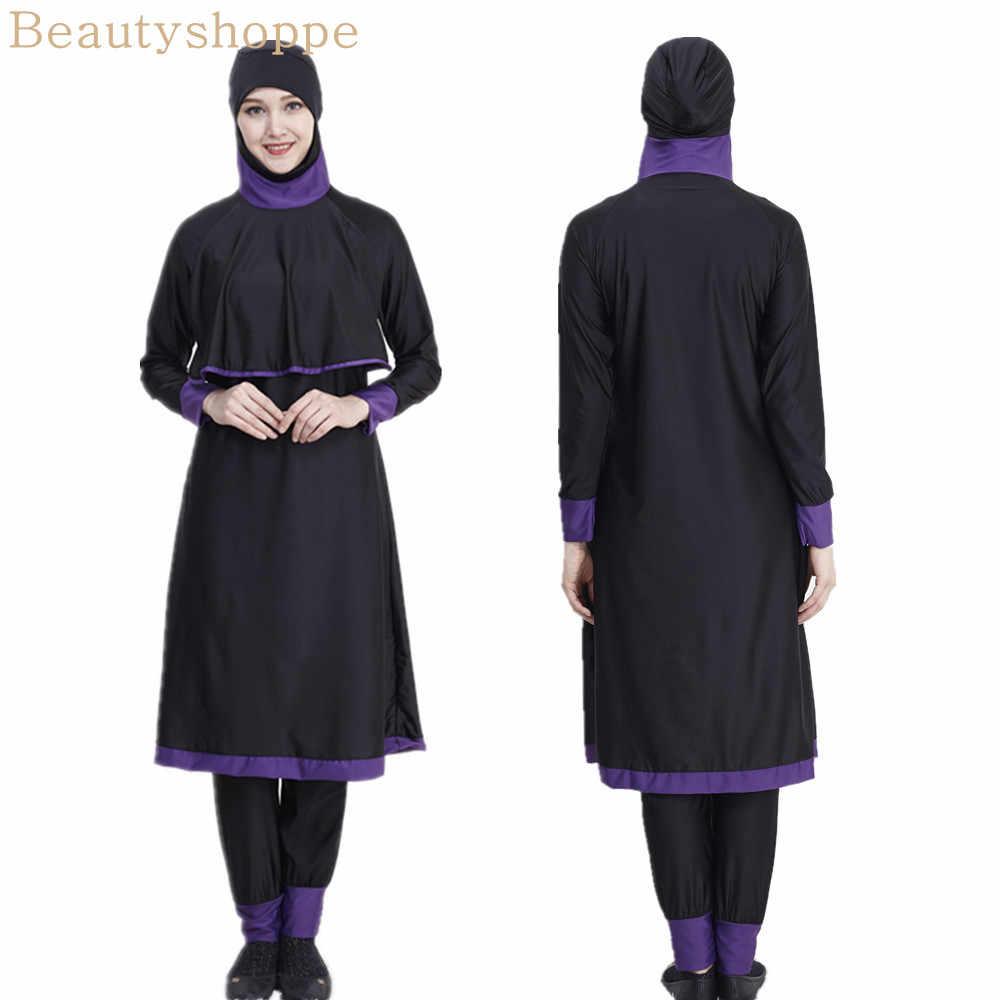 女性の水着ロングフルカバー Burkini イスラム教徒水着女性非表示水着女性イスラム水着ささやかな水着