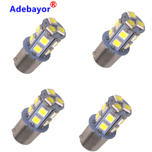 100X 12V 1156  BA15S P21W 13 SMD 5050 13 LED 13smd Brake Tail Light Bulb Lamp Auto led Car bulb light Adebayor