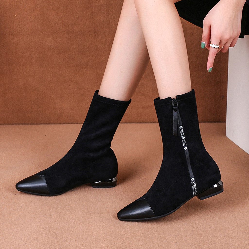 buy \u003e sock boots with small heel, Up to