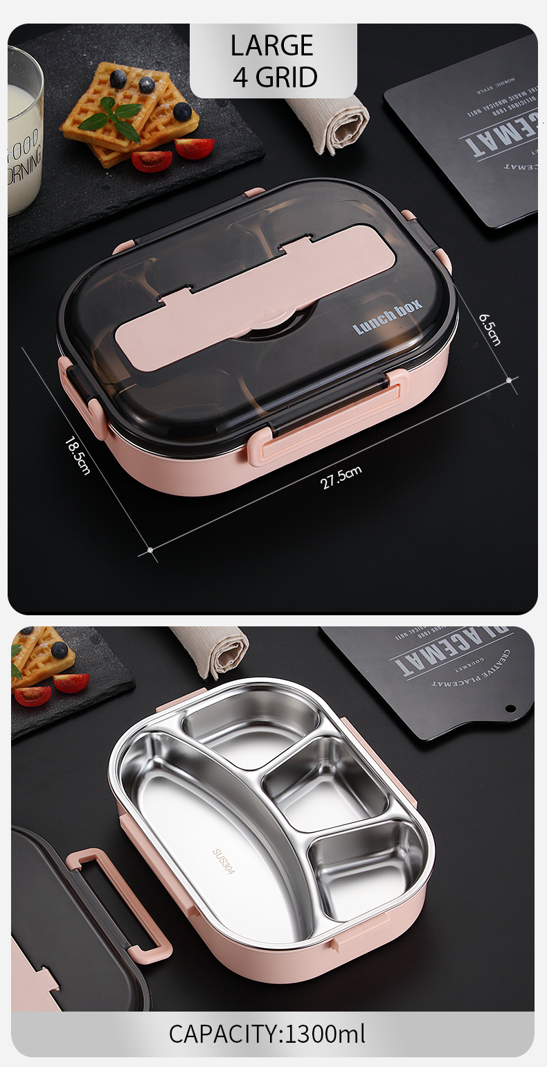 H7bb0aa9dc1604c8d90c93bb681f64c11N - WORTHBUY Japanese Kids Lunch Box 304 stainless steel Bento Lunch Box With Compartment Tableware Microwave Food Container Box
