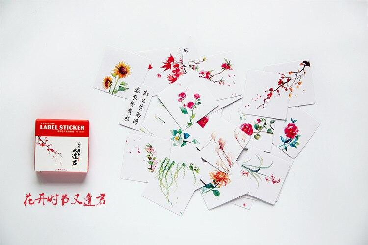 40 шт./упак. милые цветы шаблон Decoracion дневник рождественские Стикеры s Скрапбукинг стикер для канцелярских товаров принадлежности для студентов - Цвет: 12