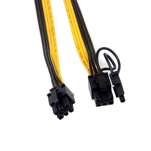 Image 5 - 6PCS PCIe 6Pin to 6+2 Pin Power Supply Cable 8 pin to 6 Pin PCI Express Graphics Card Power Cable Male to Male Port