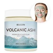 Индийская бентонитовая глина вулканического пепла, маска для лица, очищающая, увлажняющая, удаляет угри, сужает поры, питательная маска для лица