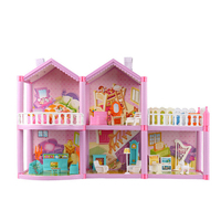 LOL surprise Dolls House For Original lols Dolls Dollhouses Villa Castle With DIY Furnitures Accessories Toys House for Girls
