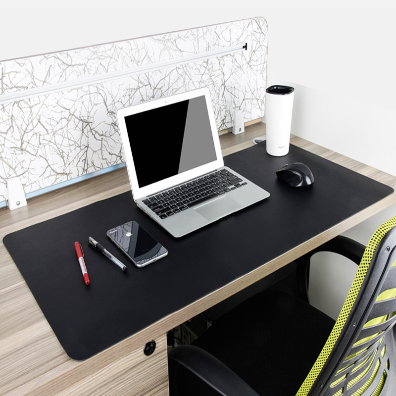 Sovawin Black Gaming Mouse Pad Natural Rubber Locking Edge Keyboard Pad Mat Anti-slip Mousepad Gamer For CSGO Dota