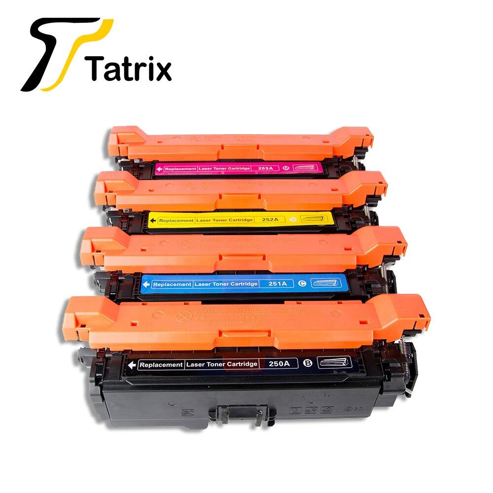 Tatrix Premium cartouche de Toner couleur Laser Compatible CE250A CE251A CE252A CE253A 504A pour imprimante HP CP3525X