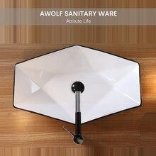 Bathroom Sinks Designer Irregular Modern Washing Basin Bowl Black White Ceramic Vessel Toilet Sink With Drain Soft Hose AM937