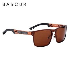 Image 5 - BARCUR gafas De Sol cuadradas De aluminio y magnesio para hombre y mujer, lentes De Sol polarizadas Estilo Vintage, deportivas