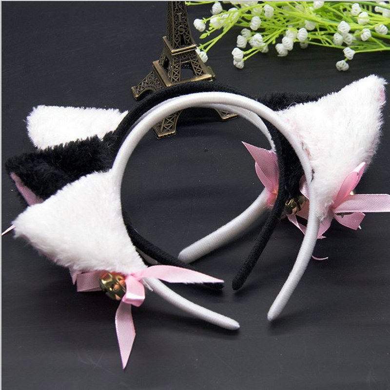 Women Hair Headband Hair Accessories Night Party Costume Sweet Cat Ears Headband Fashion Girls Plush Cat Fox Fur Ear Headbands