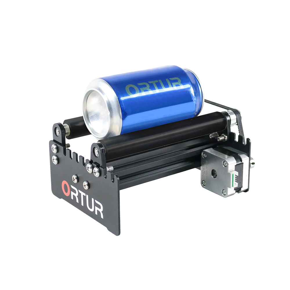ORTUR Leaser Engraver Y-axis Rotary Roller Engraving Module For Engraving Cylindrical Objects Cans - Black