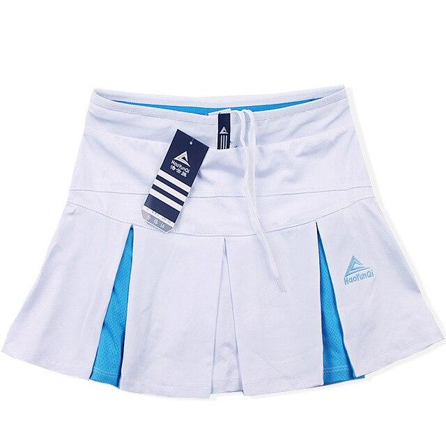 Спортивная теннисная юбка средней длины летняя быстросохнущая Дамская Сплит белая размера плюс тонкая фитнес Йога тонкая Беговая юбка - Цвет: White