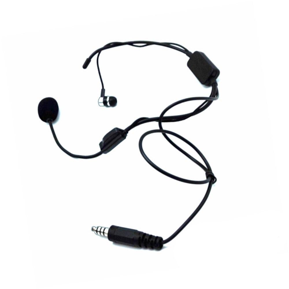 Unilateral Rear-mounted Neckband Earpiece Headset Mic for Kenwood BAOFENG Walkie Talkie Radio U94  PTT Rod Microphone Earpho