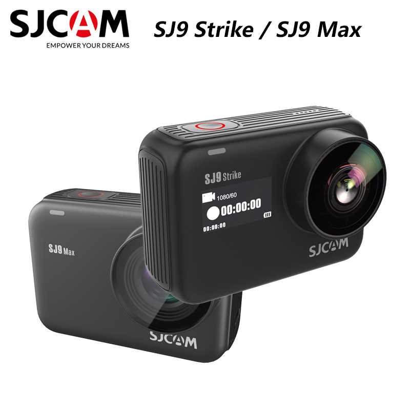 Asli SJCAM SJ9 Seri SJ9 Strike SJ9 Max Gyro Tubuh Tahan Air 4K Action Camera Live Streaming 2.4G Wifi olahraga DV