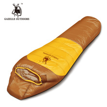 цена на Emblem antelope filling 1600g duck down mummy -style sleeping bag outdoor camping can be spliced double thick warm sleeping bag