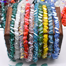 Colour Shining 6mm98pcs Triangle Crystal Beads Glass Czech Beads For Jewelry Making DIY Needlework Earring Necklace Accessories(China)