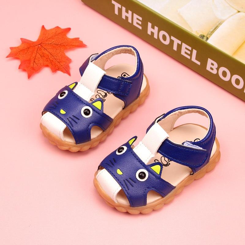 meninas sapatos respirável anti deslizamento casuais do bebê menino sandálias