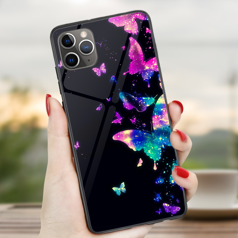 Butterfly case for iphone 11 pro back cover for iphone xr xs max x 7 8 plus 6 6s 5 5s se 2020 funda for iphone 11 pro coque