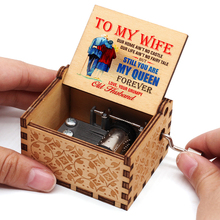 Gift Hand-Crank Queen Music Wooden Present Christmas-Gift New My You Are for Wife-Forever