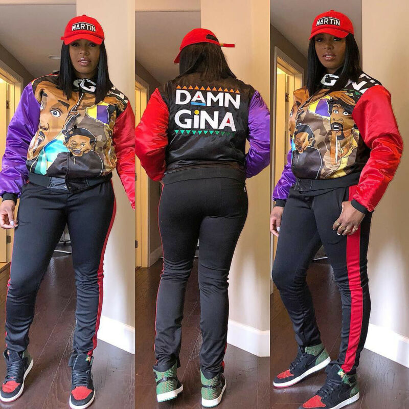 Brand New Womens Tracksuit 2PCS Sweat Suit Jogging Pants DAMN GINA Casual Sportswear Sweatshirt Ladies Spring Autumn Wear