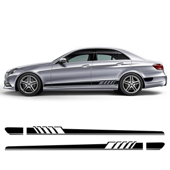 цена на Edition 1 Racing Stripe Car Door Side Skirt Stickers Decal For Mercedes Benz C Class W205 C63 AMG C43 C300 C250 C200 C220 C180