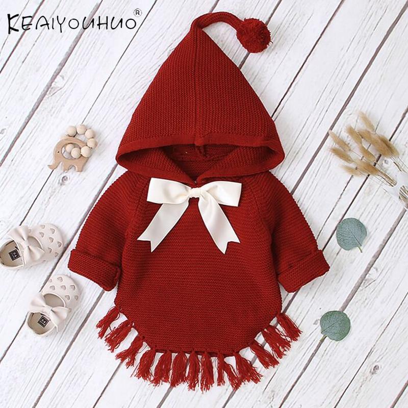 Baby Boy Clothes Winter Toddler Baby Sweaters Kids Boys Girls Sweatshirt Hoodie Cloak Knit  Sweater  For Newborn 1 2 3 Age 1