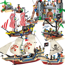 Legoingly DIY Model Sets Pirates Castle Figures Caribbean Building Blocks Children Toys Kids Educational Bricks Christmas Gifts enlighten pirate ships model compatible legoinglys warship boats castle caribbean pirates medieval figures building blocks toys page 8 page 9