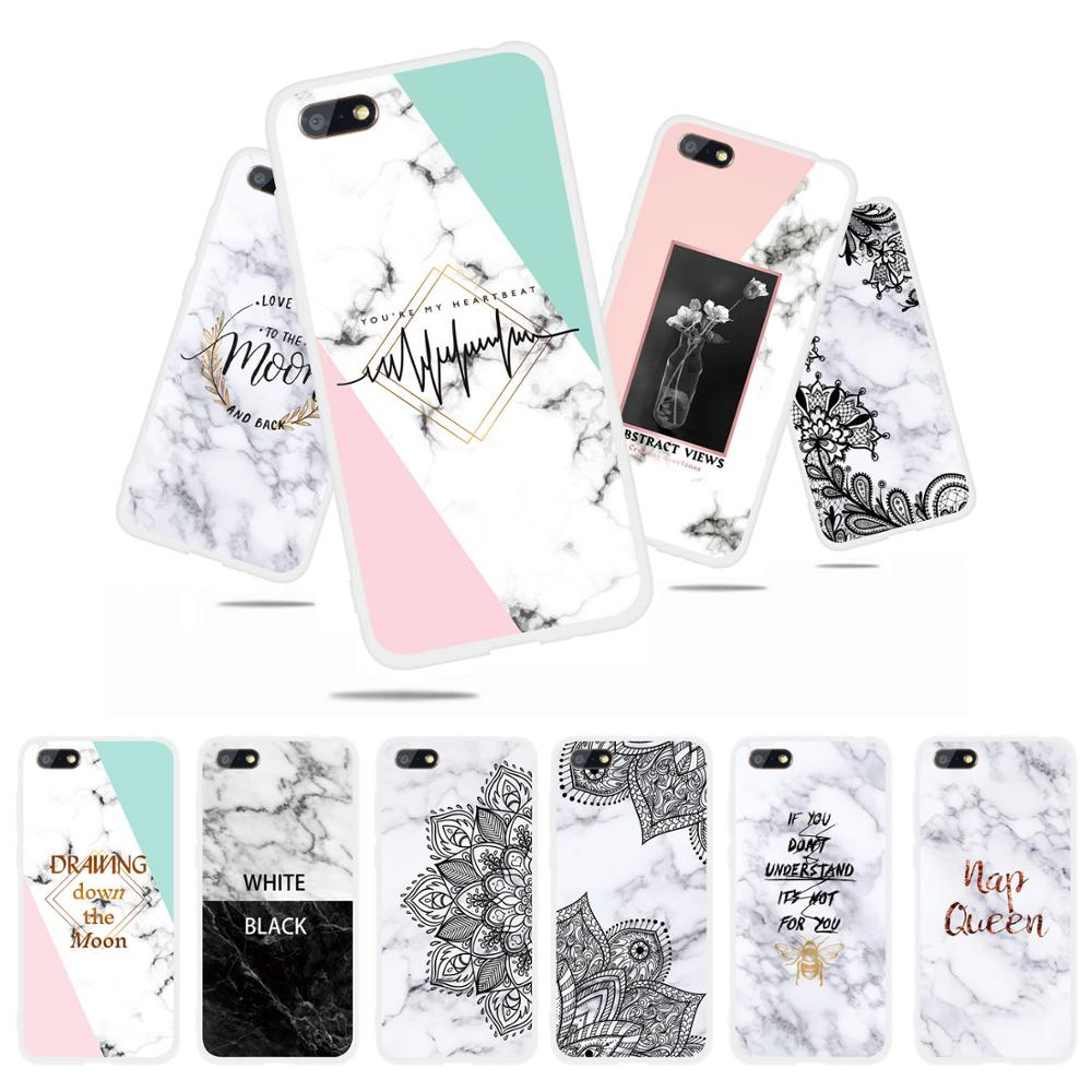 silicone case for <font><b>Huawei</b></font> <font><b>Y5</b></font> <font><b>2018</b></font> fundas hoesje Cute funny cartoon flowe bee boom tpu cover for <font><b>Y5</b></font> <font><b>2018</b></font> coque etui kryt image