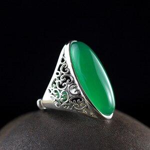 Тайское серебряное ювелирное изделие, Дворцовое кольцо в старинном стиле, кольцо с большой звездой, Женское кольцо
