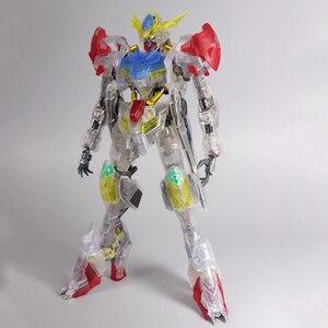 Image 2 - سبيكة MG 1/100 ASW G 08 Gundam Barbatos HIRM كامل اللون شفاف الخارجي درع الجمعية نموذج عمل دمى أشكال