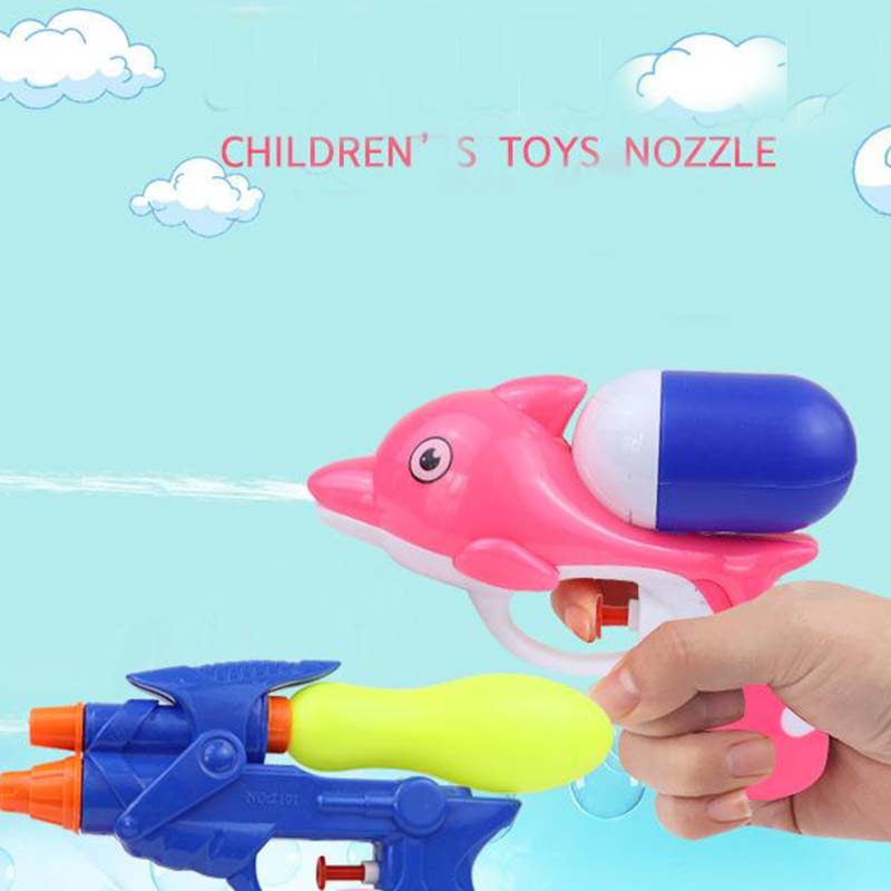 2019 New Children Dolphin Water Gun Toy Colorful Funny Outdoor Water Toys For Kids Sports Holiday Beach Squirt Toy   Novelty.