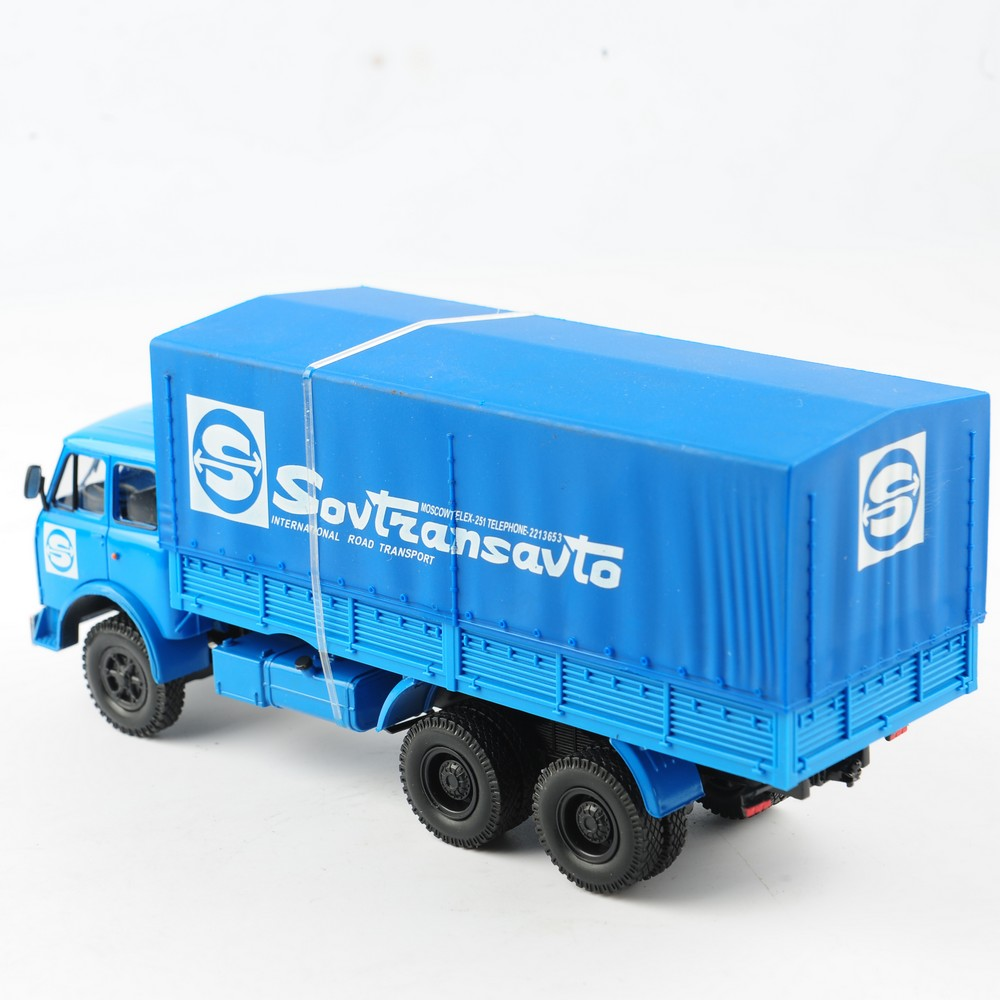 1:43 ölçekli klasik rusya mavi Van konteyner kamyon kamyon pres döküm arabalar HAW ABTONPOM MA3-5146 koleksiyonu dekorasyon odası hediye oyuncaklar