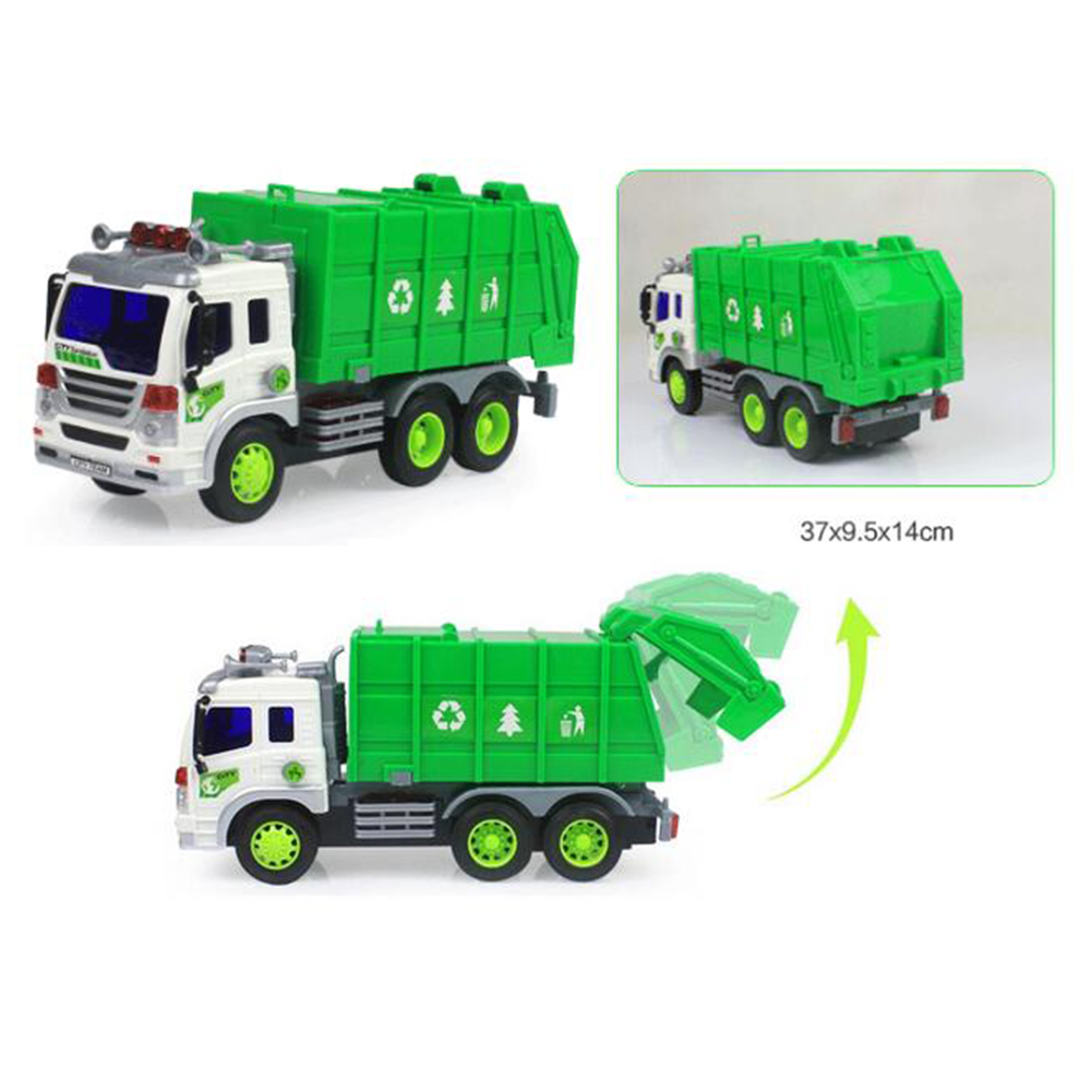 Children Large Sanitation Truck Garbage Truck Toys Boy Simulation Inertia Cleaning Car 3-5 Years Old