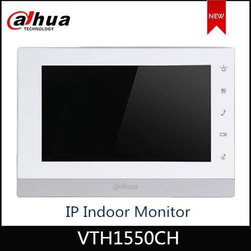 Dahua monitor IP táctil de 7 pulgadas para interiores, monitor de timbre, videoportero, monitor SIP firmware versión multi-idioma VTH1550CH