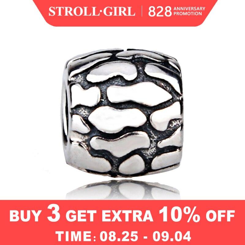 Chegada nova encantos Fit Pandora originais 925 casca de árvore charme beads Pulseiras Pingente de prata sterling-prata-Jóias para dom mulheres