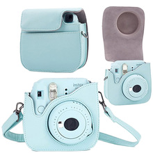 Leather Camera Strap Bag Case Cover Pouch Protector Shoulder Strap For Polaroid Photo Camera For Fuji Fujifilm Instax Mini8 8+ 9