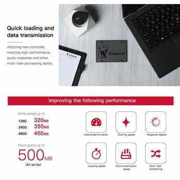 "Kingston SSD 120 GB Digital A400 Disk 240 GB SATA 3 2.5\"" Solid State Drive Wholesale Notebook Games HDD Hard Drive HD 480GB SDD"